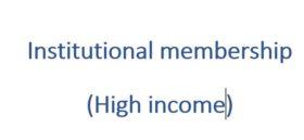 Institutional membership 1